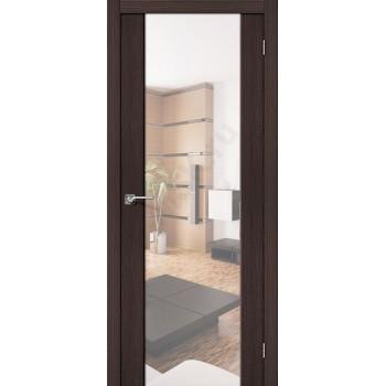 Межкомнатная дверь с Эко шпоном S-13 Reflex Wenge Veralinga BRAVO Цвет: Wenge Veralinga С зеркалом (Товар №  ZF10623)