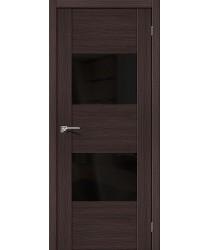 Межкомнатная дверь с Эко шпоном VG2 Wenge Veralinga Black Star el`PORTA Цвет: Wenge Veralinga Остекленная (Товар №  ZF10600)