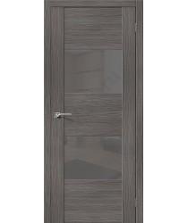 Межкомнатная дверь с Эко шпоном VG2 Grey Veralinga el`PORTA Цвет: Grey Veralinga Остекленная (Товар №  ZF10601)