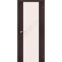 Межкомнатная дверь с эко шпоном Порта-13 ПО Wenge Veralinga el`PORTA Цвет: Wenge Veralinga Остекленная (Товар №  ZF10602)