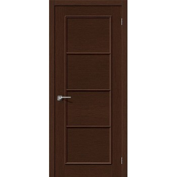 Межкомнатная шпонированная дверь Евро-40 ПГ Венге BRAVO Цвет: Венге Глухая (Товар №  ZF10607)
