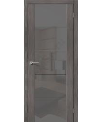 Межкомнатная дверь с Эко шпоном V4 Grey Veralinga el`PORTA Цвет: Grey Veralinga Остекленная (Товар №  ZF10626)