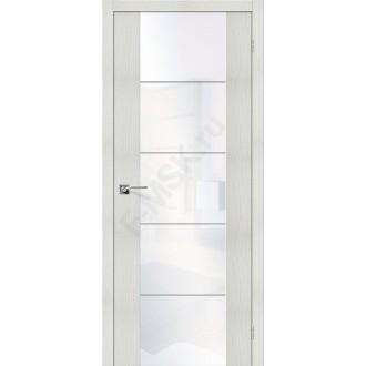 Межкомнатная дверь с Эко шпоном V4 Bianco Veralinga White Waltz el`PORTA Цвет: Bianco Veralinga Остекленная (Товар №  ZF10625)
