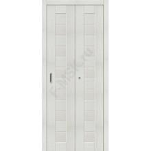 Межкомнатная складная дверь с эко шпоном Порта-21 Bianco Veralinga el`PORTA  (Товар №  ZF10779)