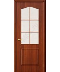 Межкомнатная дверь Палитра ПО итальянский орех BRAVO Цвет: Итальянский орех Остекленная (Товар №  ZF1040)