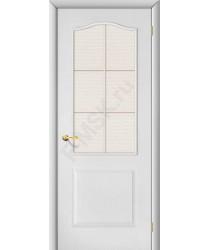 Межкомнатная дверь Палитра ПО белая BRAVO Цвет: Белый Остекленная (Товар №  ZF1041)