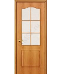 Межкомнатная дверь Палитра ПО миланский орех BRAVO Цвет: Миланский орех Остекленная (Товар №  ZF1042)