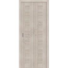 Межкомнатная складная дверь с эко шпоном Порта-21 Cappuccino Veralinga el`PORTA  (Товар №  ZF10782)