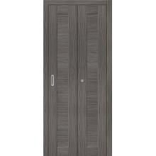 Межкомнатная складная дверь с эко шпоном Порта-21 Grey Veralinga el`PORTA  (Товар №  ZF10780)