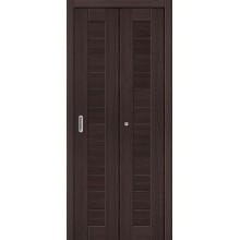Межкомнатная складная дверь с эко шпоном Порта-21 Wenge Veralinga el`PORTA  (Товар №  ZF10781)