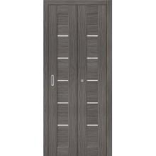 Межкомнатная складная дверь с эко шпоном Порта-22 ск Grey Veralinga el`PORTA  (Товар №  ZF10789)