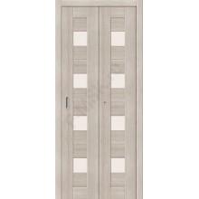 Межкомнатная складная дверь с эко шпоном Порта-23 Cappuccino Veralinga el`PORTA  (Товар №  ZF10786)