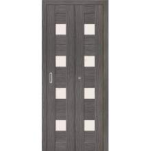 Межкомнатная складная дверь с эко шпоном Порта-23 ск Grey Veralinga el`PORTA  (Товар №  ZF10787)