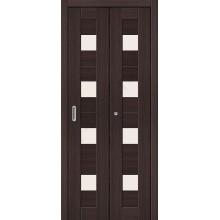 Межкомнатная складная дверь с эко шпоном Порта-23 Wenge Veralinga el`PORTA  (Товар №  ZF10791)