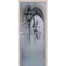 Аркада Люкс Белое Сатинато - стеклянная межкомнатная дверь АКМА  (Товар №  ZF10810)