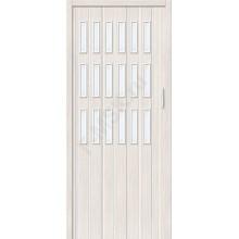 Межкомнатная раздвижная дверь (Гармошка) Браво-018 белый дуб BRAVO   (Товар №  ZF10806)