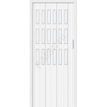 Межкомнатная раздвижная дверь (Гармошка) Браво-018 белый глянец BRAVO   (Товар №  ZF10804)