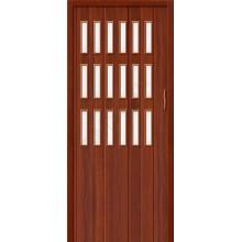 Межкомнатная раздвижная дверь (Гармошка) Браво-018 итальянский орех BRAVO   (Товар №  ZF10807)