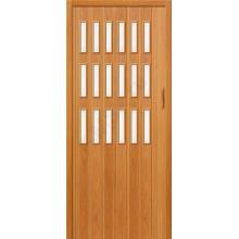 Межкомнатная раздвижная дверь (Гармошка) Браво-018 миланский орех BRAVO   (Товар №  ZF10808)