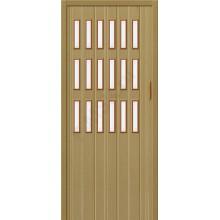 Межкомнатная раздвижная дверь (Гармошка) Браво-018 светлый дуб BRAVO   (Товар №  ZF10805)
