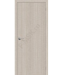 Межкомнатная дверь с эко шпоном Порта-50 Cappuccino Crosscut el`PORTA Цвет: Cappuccino Crosscut Глухая (Товар №  ZF19524)