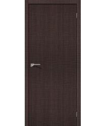 Межкомнатная дверь с эко шпоном Порта-50 Wenge Crosscut el`PORTA Цвет: Wenge Crosscut Глухая (Товар №  ZF19526)