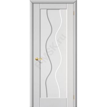 Межкомнатная дверь с ПВХ-пленкой Вираж Плюс ПГ, белый BRAVO Цвет: Белый Глухая (Товар №  ZF19531)