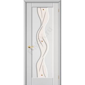 Межкомнатная дверь с ПВХ-пленкой Вираж Плюс ПО, белый BRAVO Цвет: Белый Фьюзинг (Товар №  ZF19534)