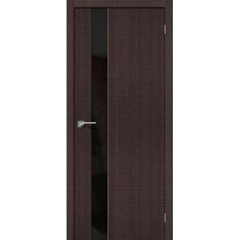 Межкомнатная дверь с эко шпоном Порта-51 BS Wenge Crosscut el`PORTA Цвет: Wenge Crosscut С зеркалом (Товар №  ZF19547)