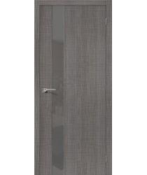 Межкомнатная дверь с эко шпоном Порта-51 S Grey Crosscut el`PORTA Цвет: Grey Crosscut С зеркалом (Товар №  ZF19543)