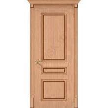Межкомнатная шпонированная дверь Стиль ПГ Дуб BRAVO Цвет: Дуб файн-лайн Глухая (Товар №  ZF19538)