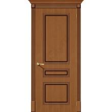 Межкомнатная шпонированная дверь Стиль ПГ Орех BRAVO Цвет: Орех Глухая (Товар №  ZF19539)