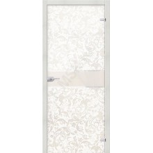 Стеклянная дверь Флори Белое BRAVO Цвет: Белый  (Товар №  ZF19572)