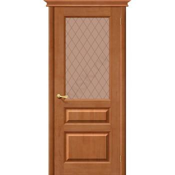 Межкомнатная дверь из Массива М5 ПО светлый лак Белорусские двери Цвет: Светлый лак Остекленная (Товар №  ZF20072)