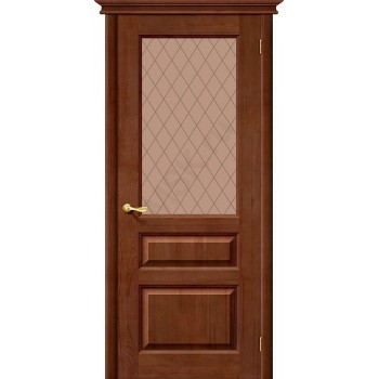 Межкомнатная дверь из Массива М5 ПО темный лак Белорусские двери Цвет: Темный лак Остекленная (Товар №  ZF20074)