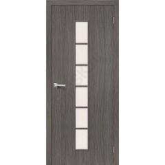 Межкомнатная дверь 3D-graf Тренд-12 3D Grey BRAVO Цвет: 3D Grey Остекленная (Товар №  ZF20080)