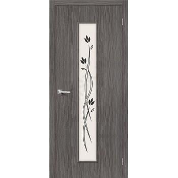Межкомнатная дверь 3D-graf Тренд-14 3D Grey BRAVO Цвет: 3D Grey Остекленная (Товар №  ZF20081)