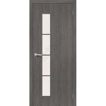 Межкомнатная дверь 3D-graf Тренд-4 3D Grey BRAVO Цвет: 3D Grey Остекленная (Товар №  ZF20088)