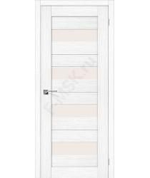 Межкомнатная дверь с эко шпоном Порта-23 ПО Snow Veralinga el`PORTA Цвет: Snow Veralinga Остекленная (Товар №  ZF20092)