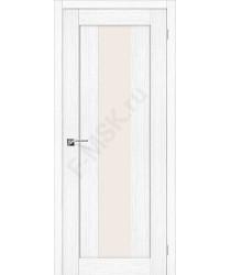 Межкомнатная дверь с эко шпоном Порта-25 alu Snow Veralinga el`PORTA Цвет: Snow Veralinga Остекленная (Товар №  ZF20093)