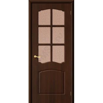 Межкомнатная дверь с ПВХ-пленкой Альфа ПГ венге ГРАДВЕРЬ Цвет: Венге Глухая (Товар №  ZF20101)