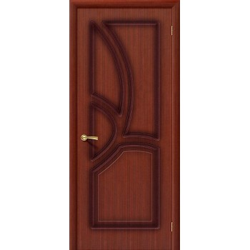 Межкомнатная шпонированная дверь Греция ПГ макоре файн-лайн BRAVO Цвет: Макоре Глухая (Товар №  ZF20096)