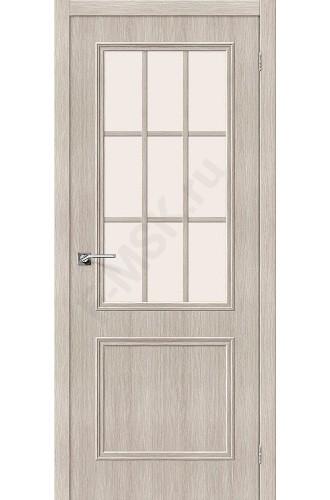 Дверь экошпон Симпл-13 в цвете Cappuccino Veralinga остекленная (Товар №  ZF38252)