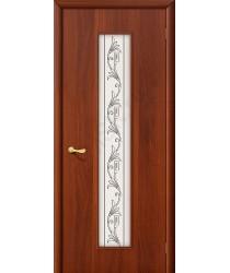 Межкомнатная ламинированная дверь 24Х итальянский орех BRAVO Цвет: Итальянский орех Витраж (Товар №  ZF1049)