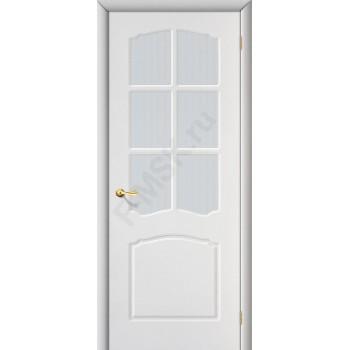 Межкомнатная дверь с ПВХ-пленкой Альфа ПО, белая ГРАДВЕРЬ Цвет: Белый Остекленная (Товар №  ZF1065)