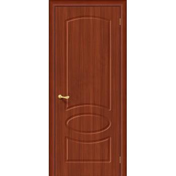 Межкомнатная дверь с ПВХ-пленкой Неаполь ПГ, итальянский орех BRAVO Цвет: Итальянский орех Глухая (Товар №  ZF1058)
