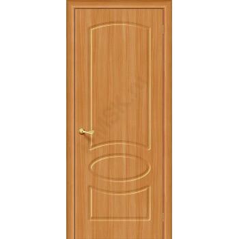 Межкомнатная дверь с ПВХ-пленкой Неаполь ПГ, миланский орех BRAVO Цвет: Миланский орех Глухая (Товар №  ZF1057)