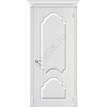 Дверь ПВХ Скинни-32 в цвете П-24 (Белый). (Товар № ZF0)