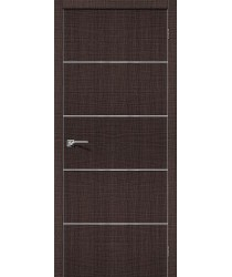 Дверь экошпон Серия Porta Z Порта-50А-6 в цвете Wenge Crosscut (Товар №  ZF38413)
