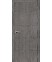 Дверь экошпон Серия Porta Z Порта-50А-6 в цвете Grey Crosscut (Товар №  ZF38414)